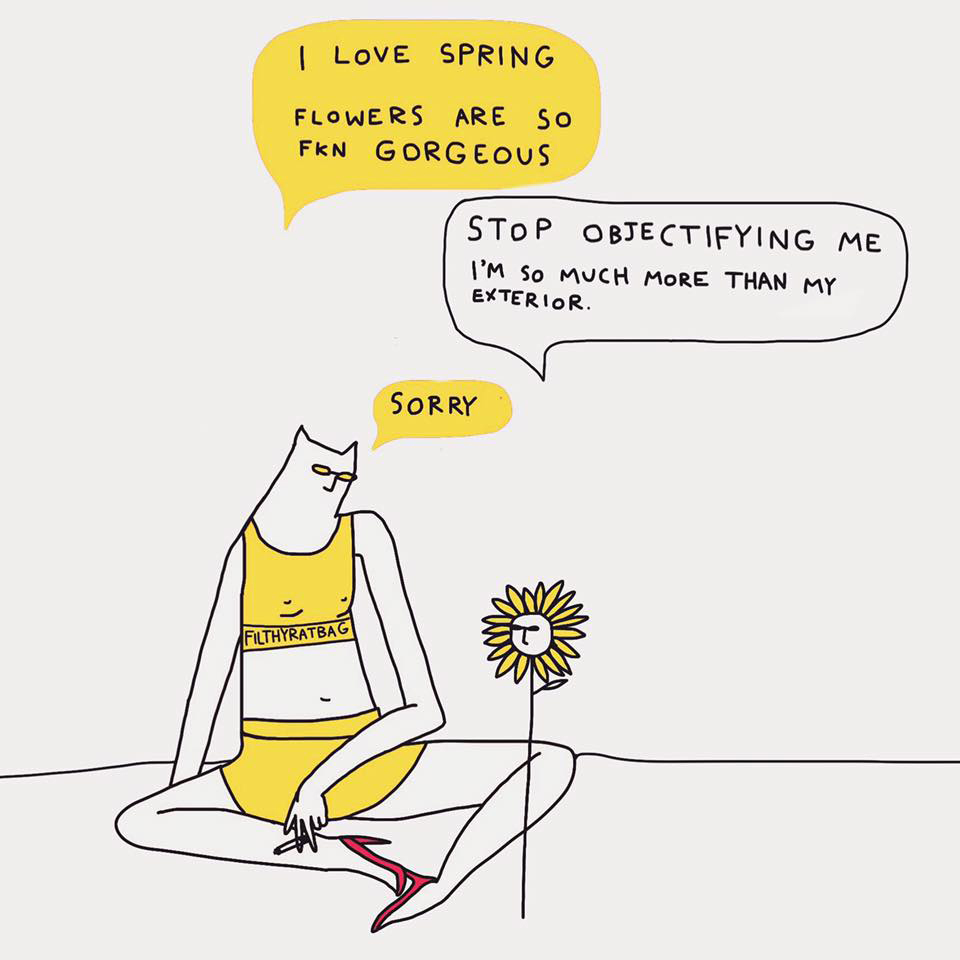 Witty Illustrations by Celeste Mountjoy, aka Filthyratbag | Yellowtrace
