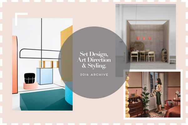 Set Design, Art Direction & Styling Archive 2016 | Yellowtrace