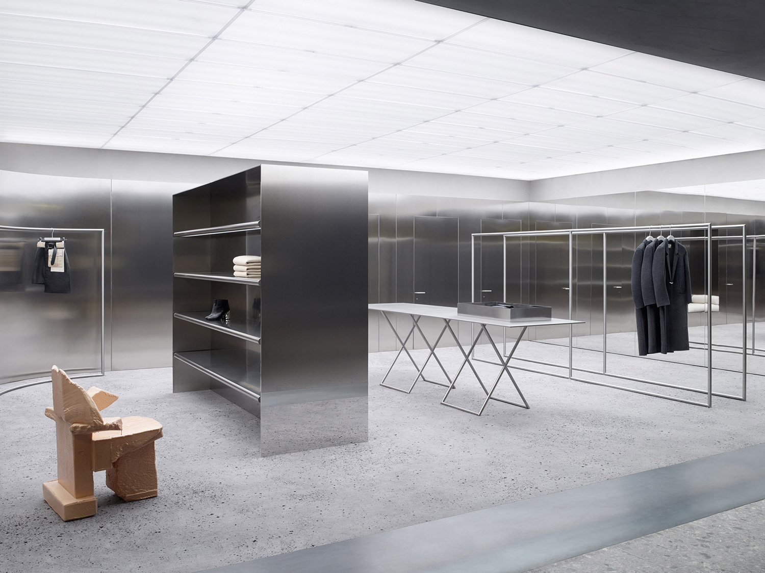 Acne Store in Copenhagen by Christian Hallerod Design | Yellowtrace