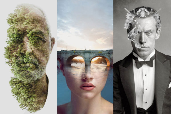 Hypnotic Double Exposure Portraits Curated by Yellowtrace