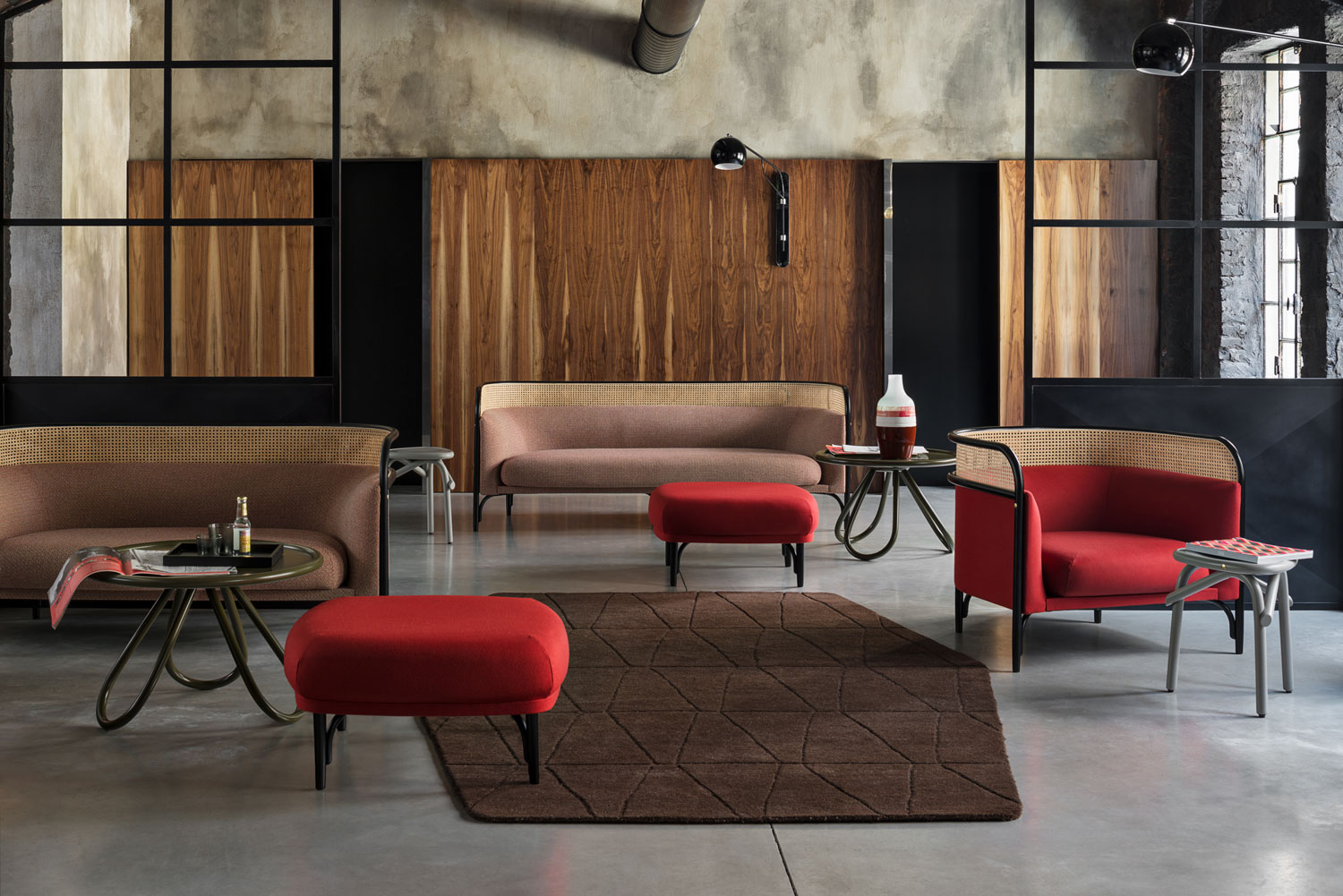 Gebruder Thonet Vienna, TARGA Sofa Lounge & Pouf Design by GamFratesi | Yellowtrace