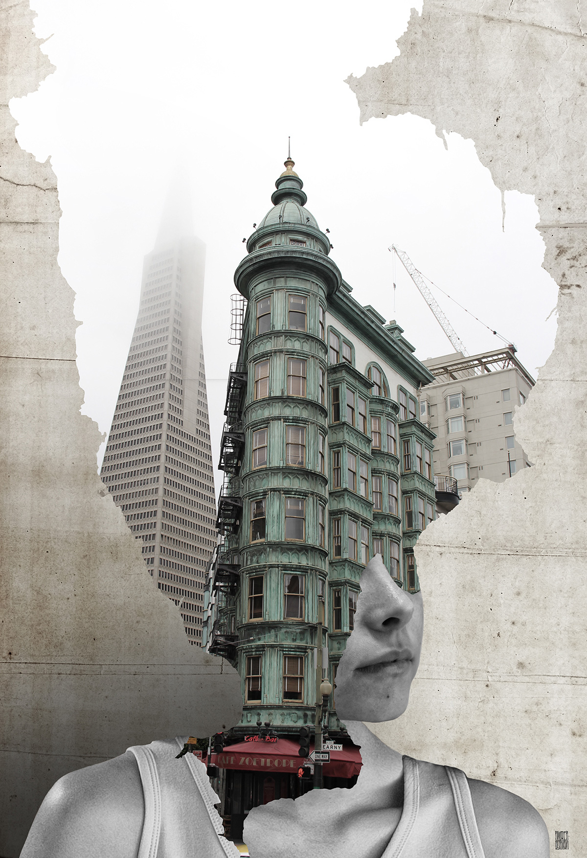 Hypnotic Double Exposure Portraits, Andrea Costantini | Yellowtrace