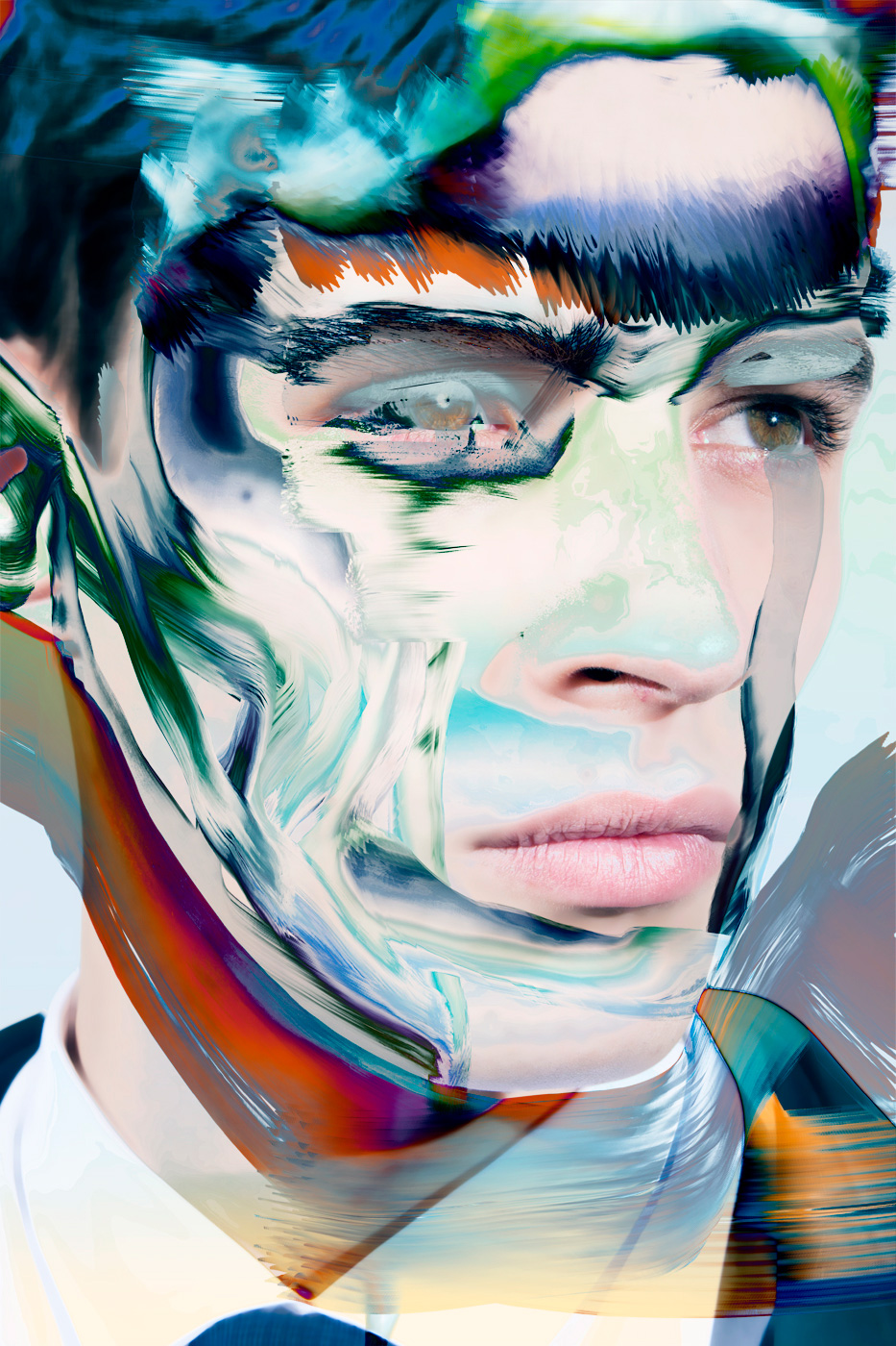 Hypnotic Double Exposure Portraits, Pierre Debusschere | Yellowtrace