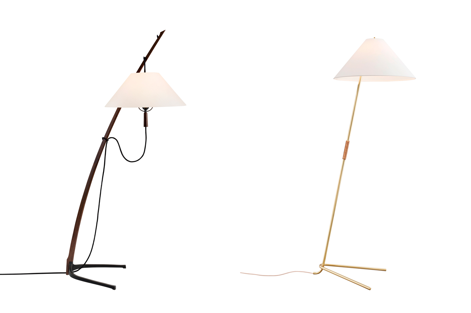 Dornstab Floor Lamp & Hase Floor Lamp by KALMAR Werkstatten | Yellowtrace