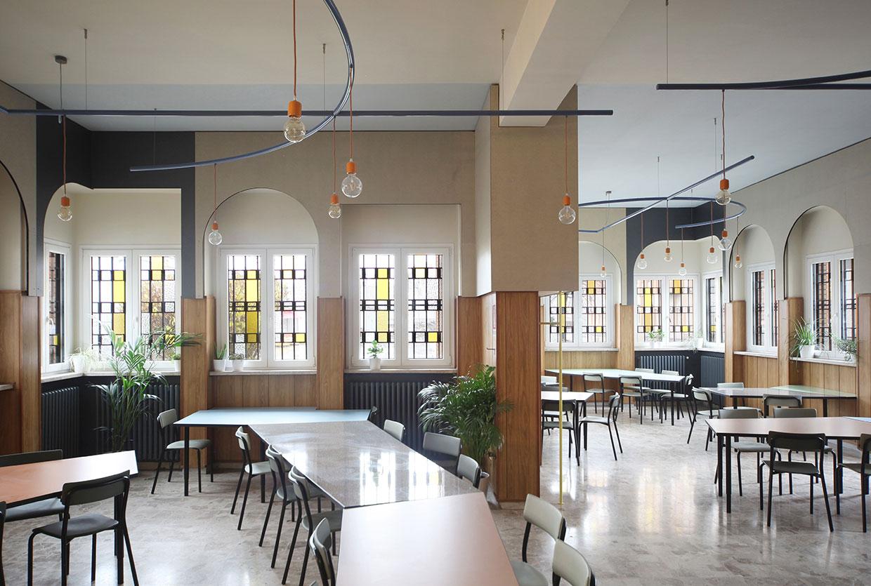 Liberamensa Restaurant Located Inside the Turin Prison by Marcante-Testa (UdA Architects) | Yellowtrace