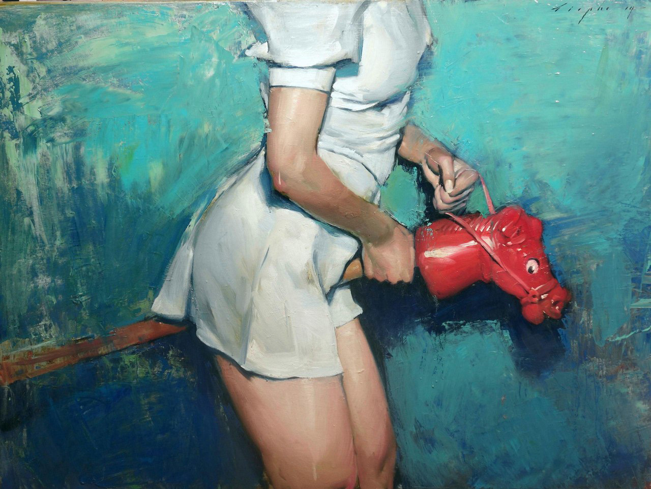 Red Rocker, 2014 by Malcolm T. Liepke | Yellowtrace