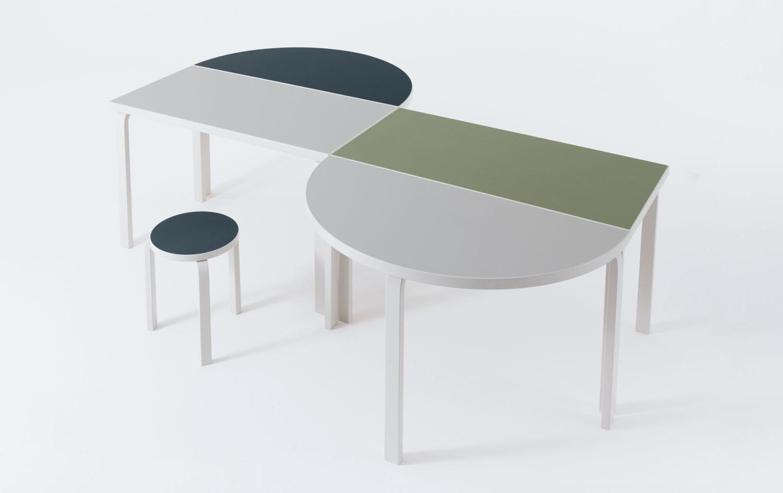 Artek special edition Alvar Aalto 'L-Leg' table, Maison & Objet Paris 2017 | Yellowtrace