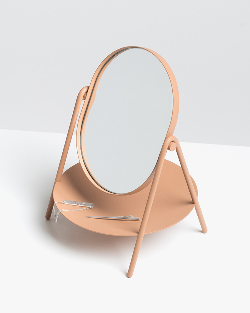 Elli Mirror by Knauf & Brown at Stockholm Furniture Fair 2017 | Yellowtrace