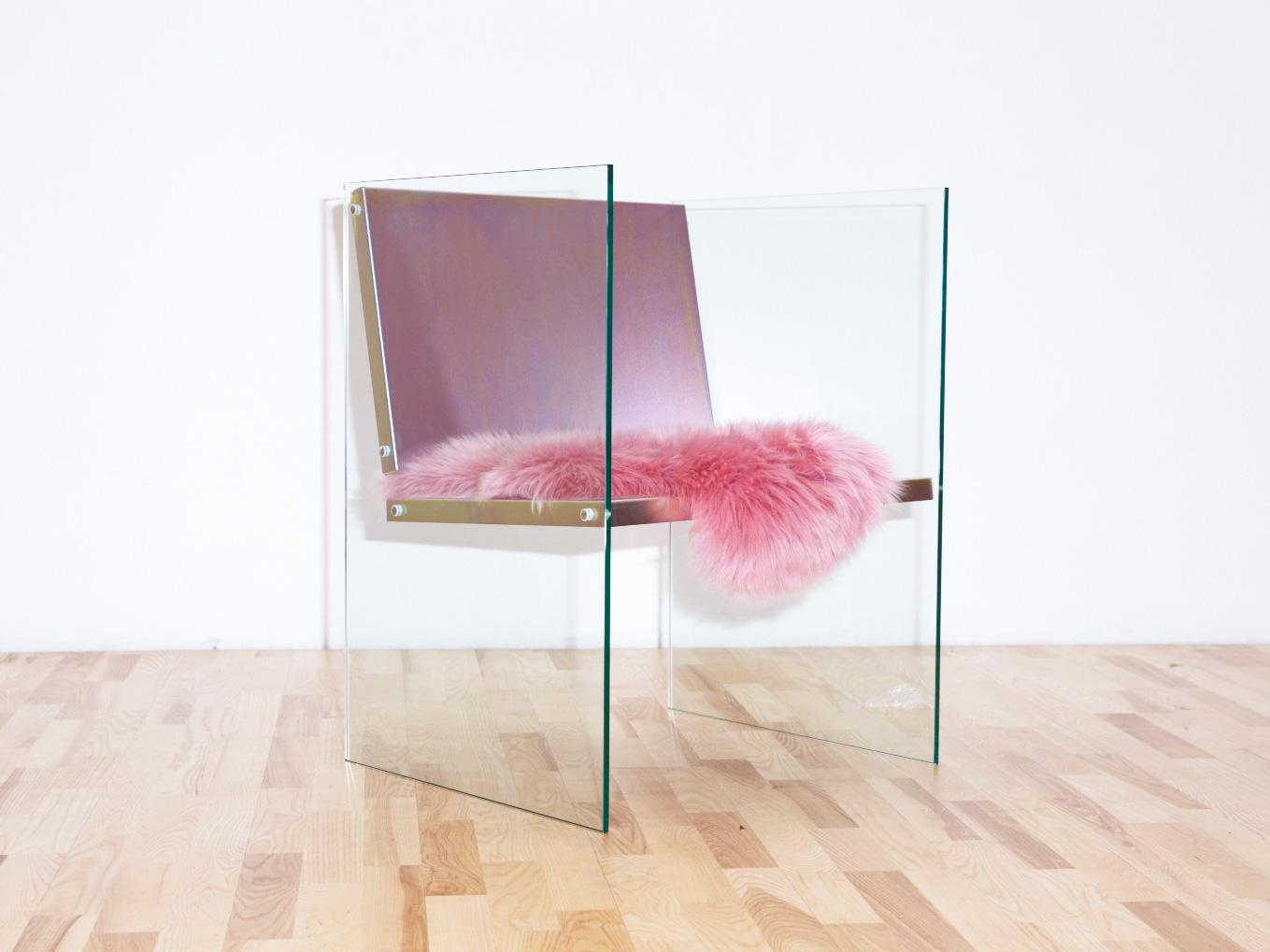 Ornsbergsauktionen 2017, Glass & Steel Chair by Fredrik Paulsen at Stockholm Furniture Fair 2017 | Yellowtrace