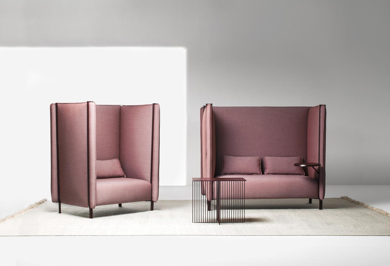 Pinch Sofa & Armchair by Skrivo Design for La Cividina at Stockholm Furniture Fair 2017 | Yellowtrace