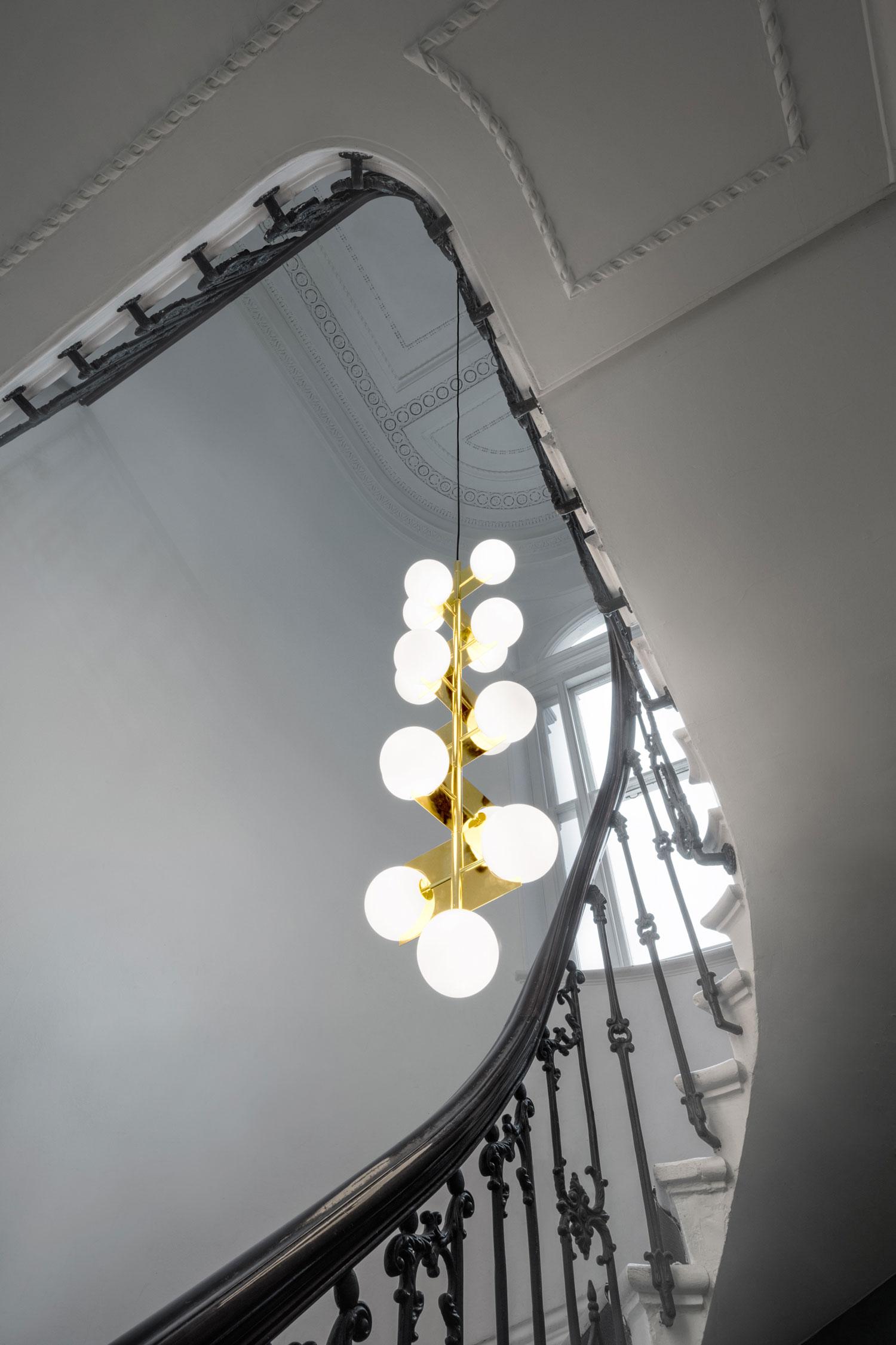 Tom Dixon Plane Drop Chandelier at Stockholm Furniture Fair 2017 | Yellowtrace