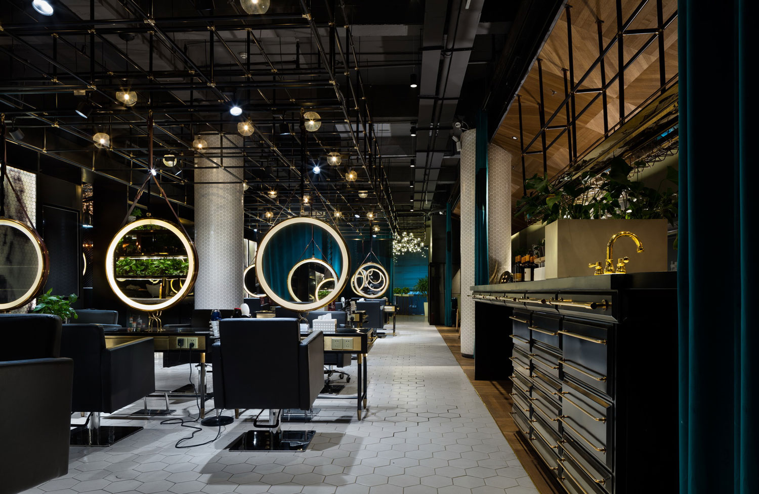 Barber Shop in Wuxi, China by S5 Design | Yellowtrace