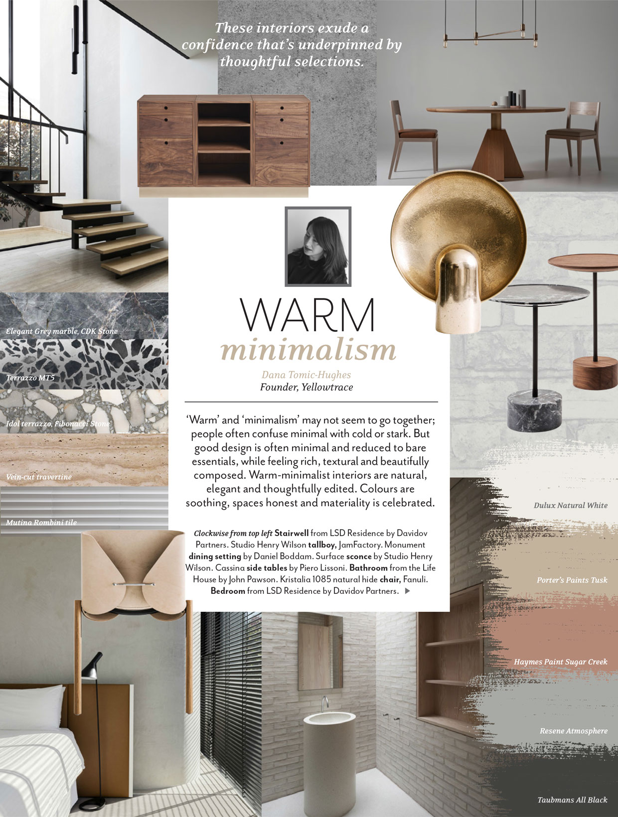Trend Report by Dana Tomic Hughes in Australian House & Garden Magazine | Yellowtrace