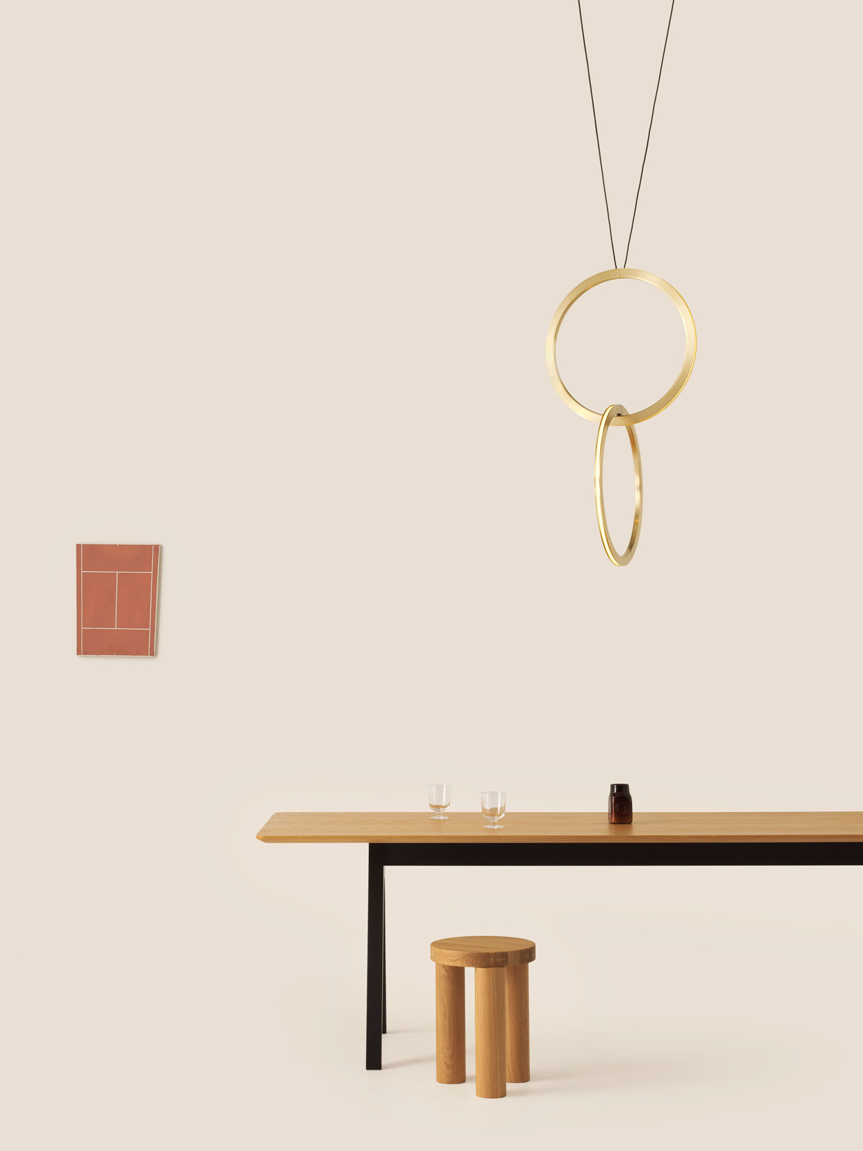 Milantrace-2017-Resident-Circus-Pendant-Scholar-Table-Offbeat-Stool-Salone-del-Mobile-2017-Yellowtrace