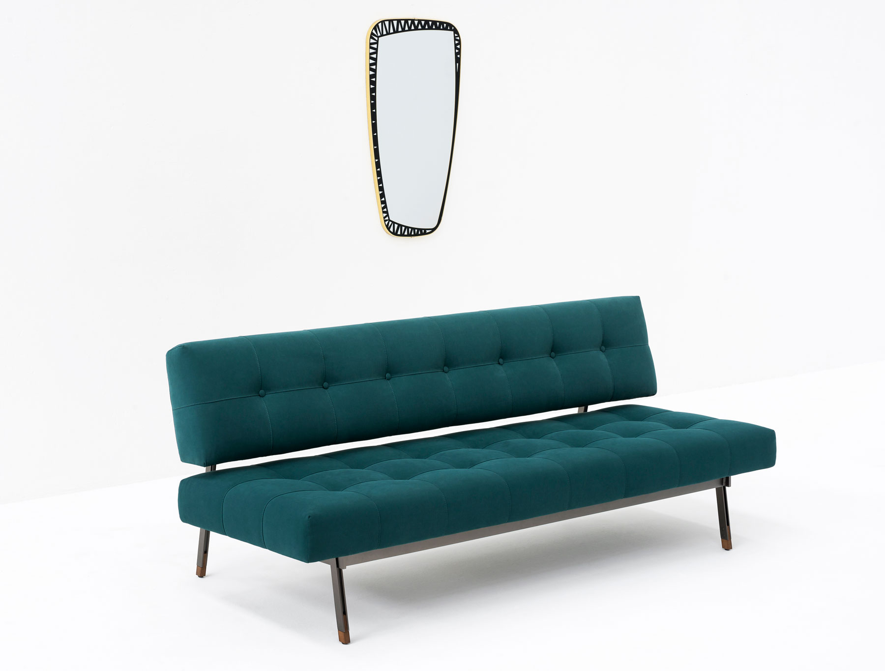 Tufted Sofa  Milantrace Tacchini New Collection Anteprima at Salone Del Mobile Yellowtrace