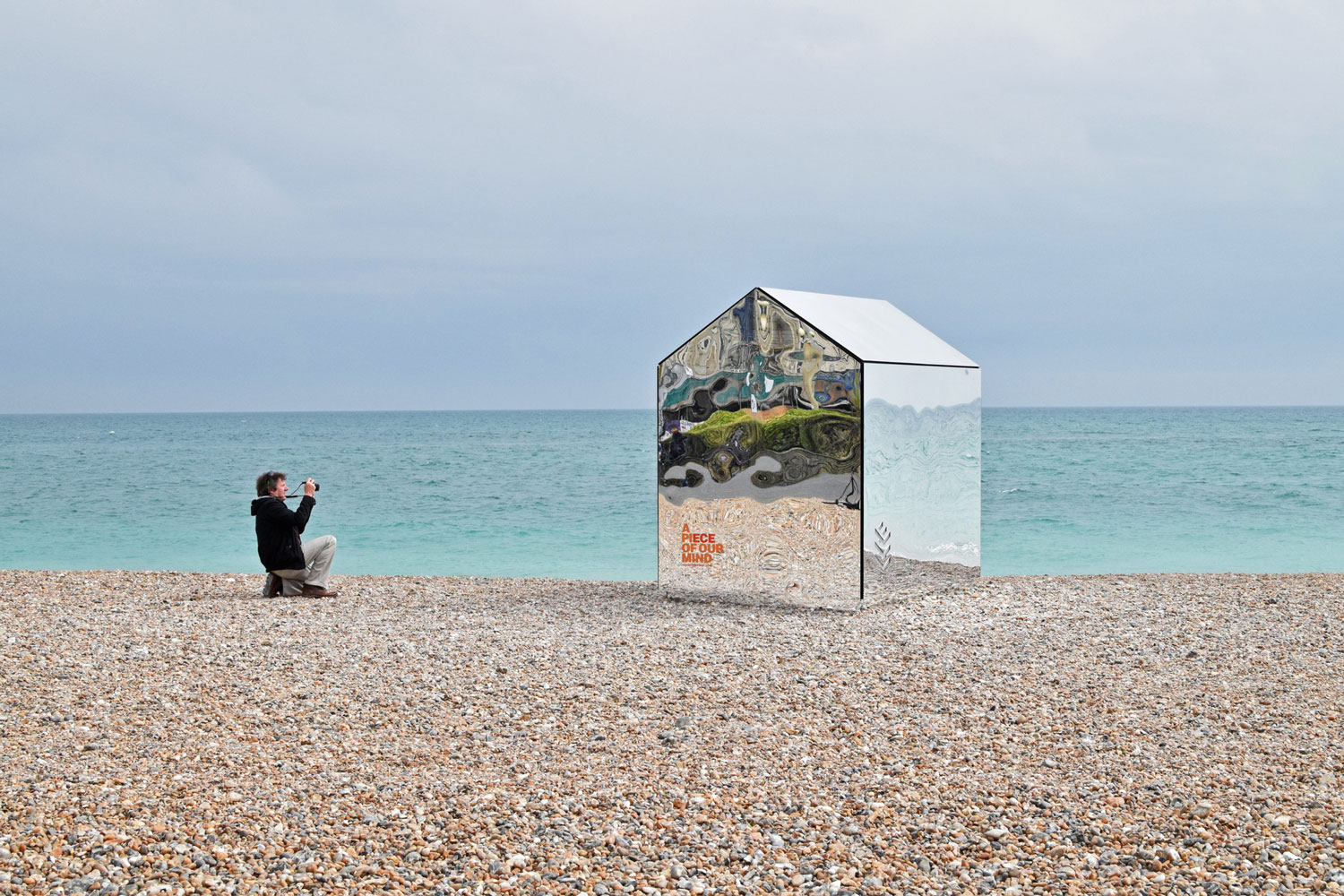 Mirrored Beach Hut by ECE Architecture + Creative Forager | Yellowtrace