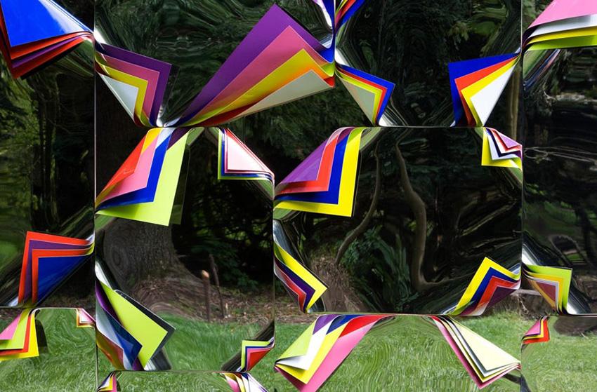 Mirrored Shed by Jim Lambie at Jupiter Artland   Yellowtrace