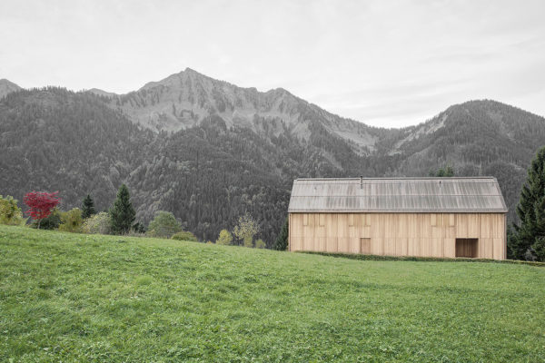 Modern Farmhouse in Laterns, Austria by Bernardo Bader Architekten | Yellowtrace