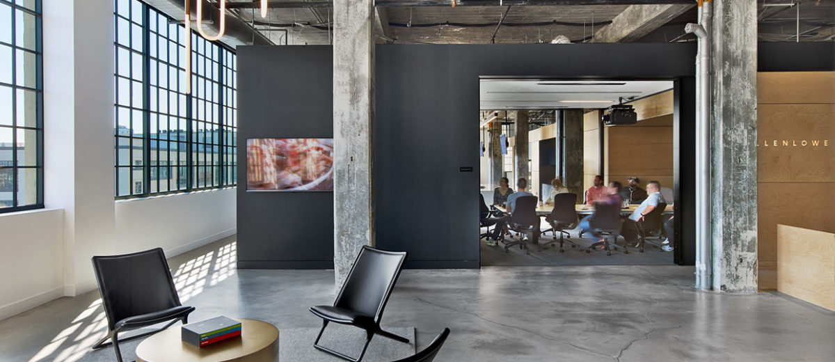 creative agency office. MullenLowe Ad Agency Office In Winston-Salem, US By TPG Architecture. Creative Agency Office