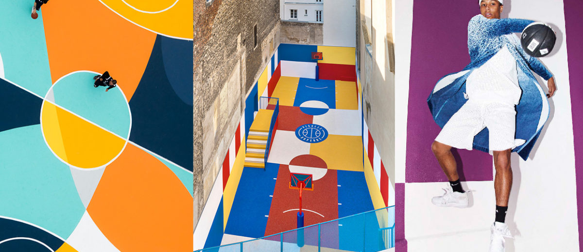 Multicoloured Basketball Court Installations | Yellowtrace