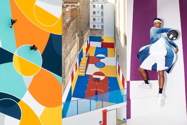 Multicoloured Basketball Court Installations | Yellowtrace