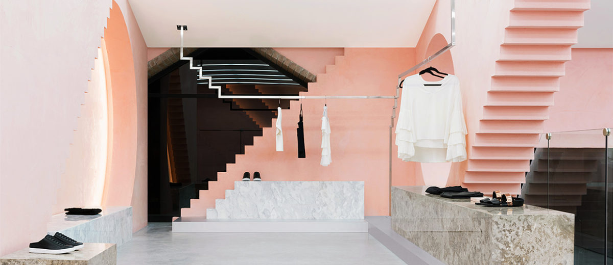 Geometric Shapes Steps Details Inside Novelty Store In San Pedro By Anagrama