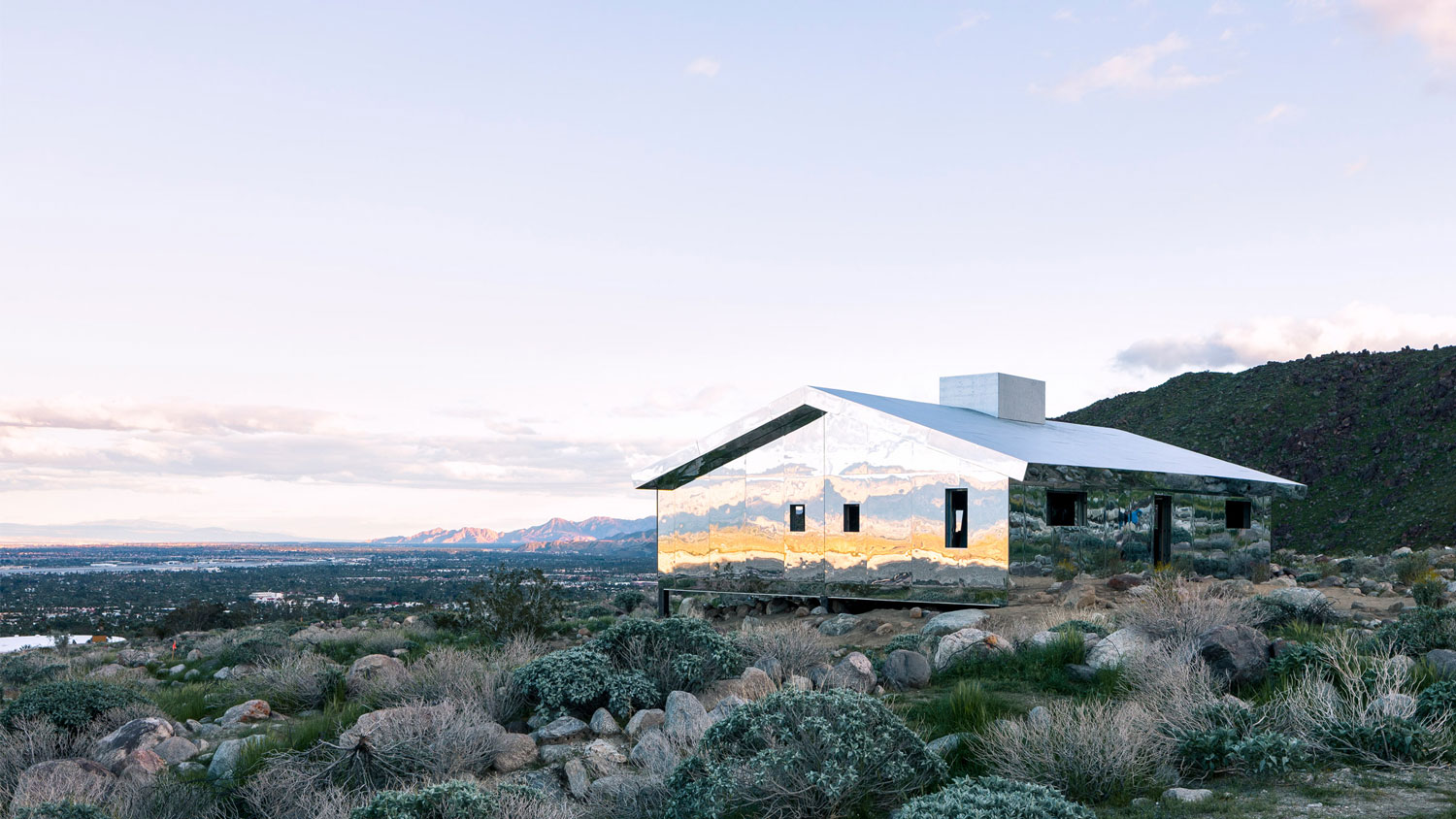 The Mirage Sculpture by Doug Aitken in the Desert Outside Palm Springs   Yellowtrace