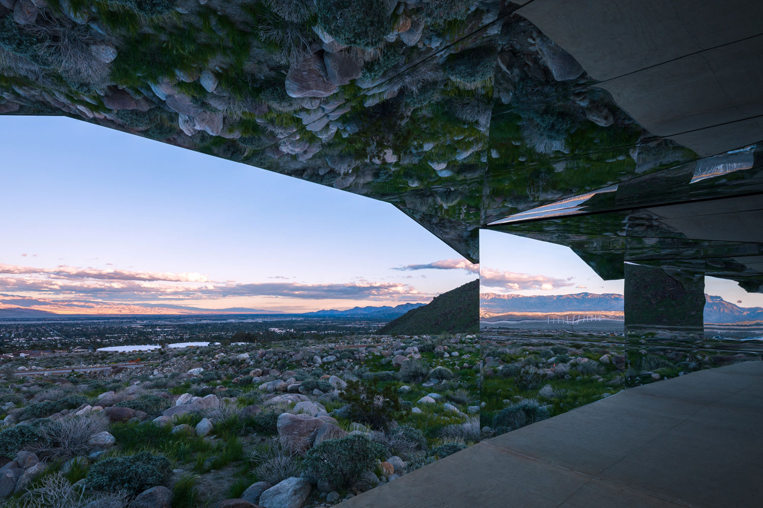 The Mirage Sculpture by Doug Aitken in the Desert Outside Palm Springs | Yellowtrace