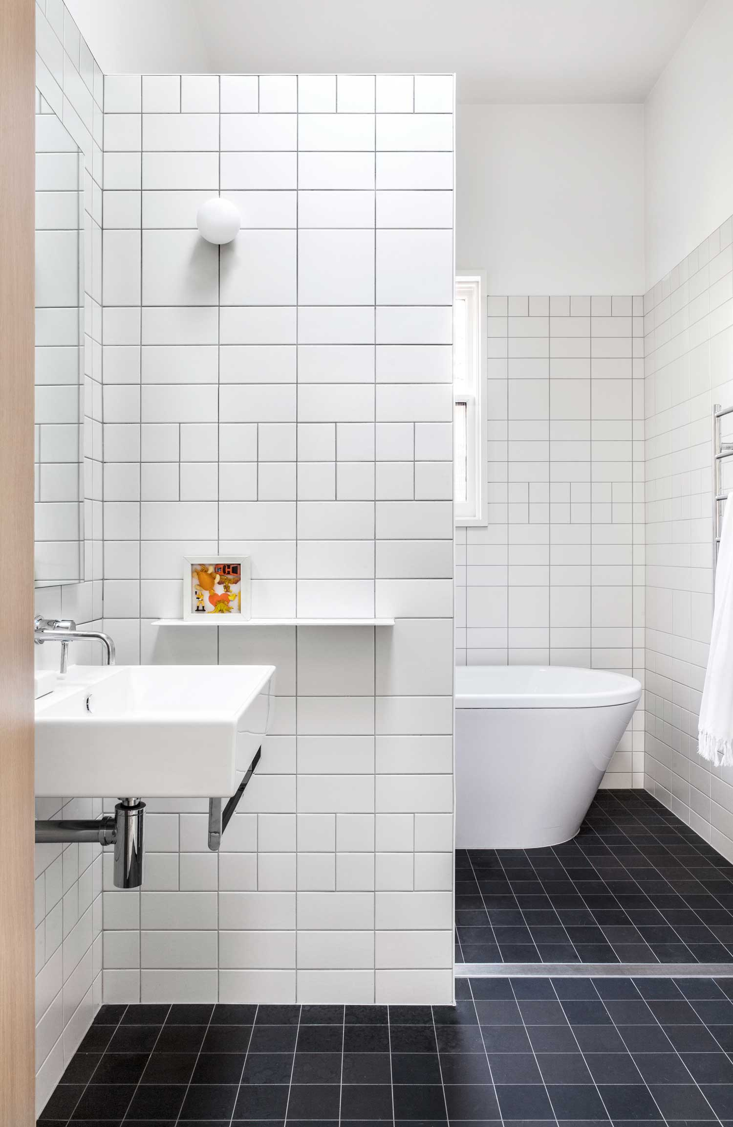 how to change bathroom tiles baffle house by clare cousins architects yellowtrace 23395