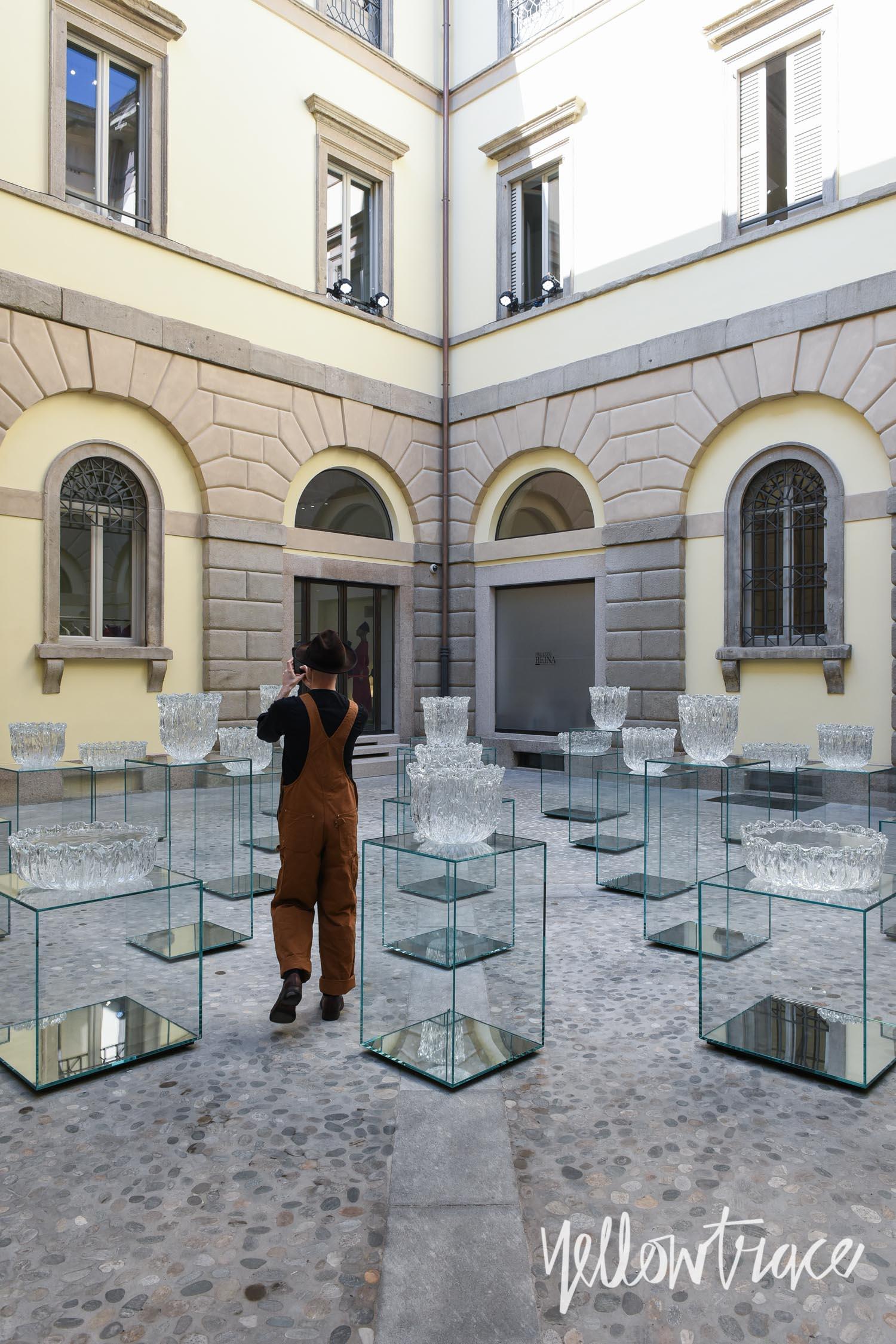 Milan Design Week 2017 Highlights, Glass Fountain by Tokujin Yoshioka at Issey Miyake flagship, Photo © Nick Hughes | #Milantrace2017