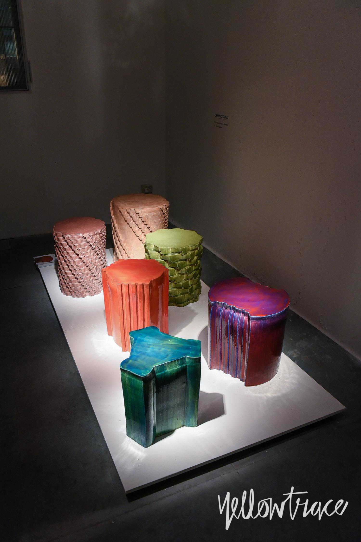 Milan Design Week 2017 Highlights, Ceramic Tables by Studio Floris Wubben at Spazio Rossana Orlandi, Photo © Nick Hughes | #Milantrace2017