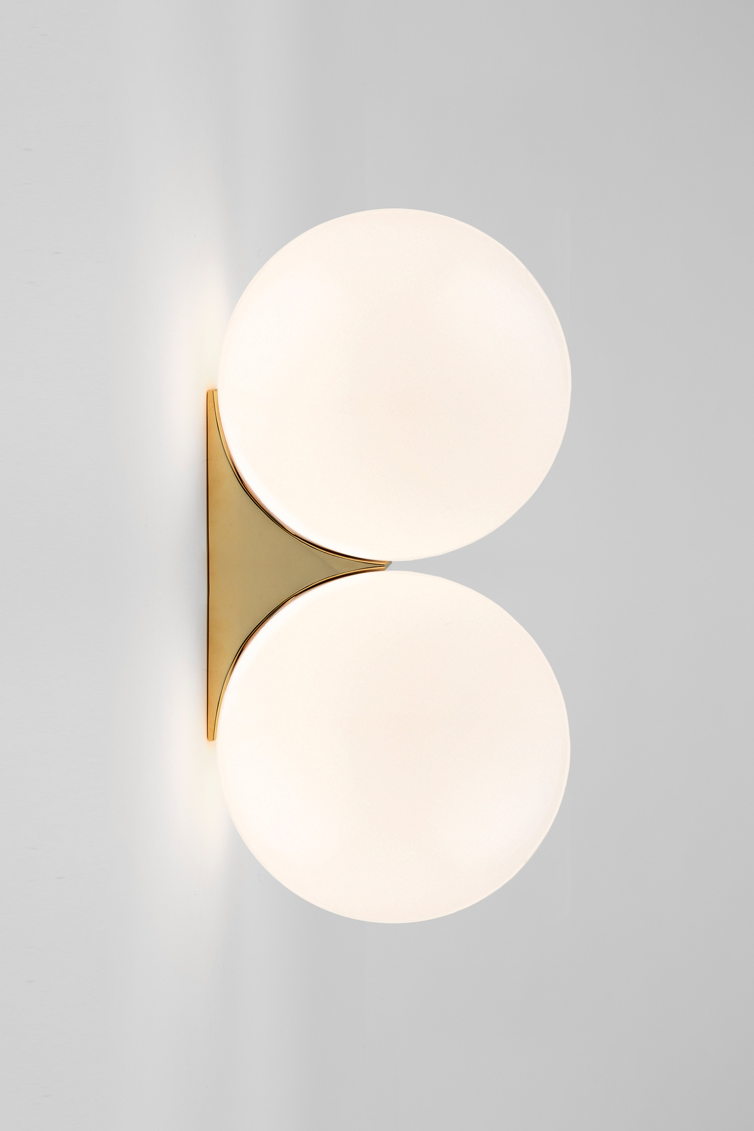 Brass Architectural Collection_Double Sconce brass by Michael Anastassiades at Euroluce 2017 | Yellowtrace