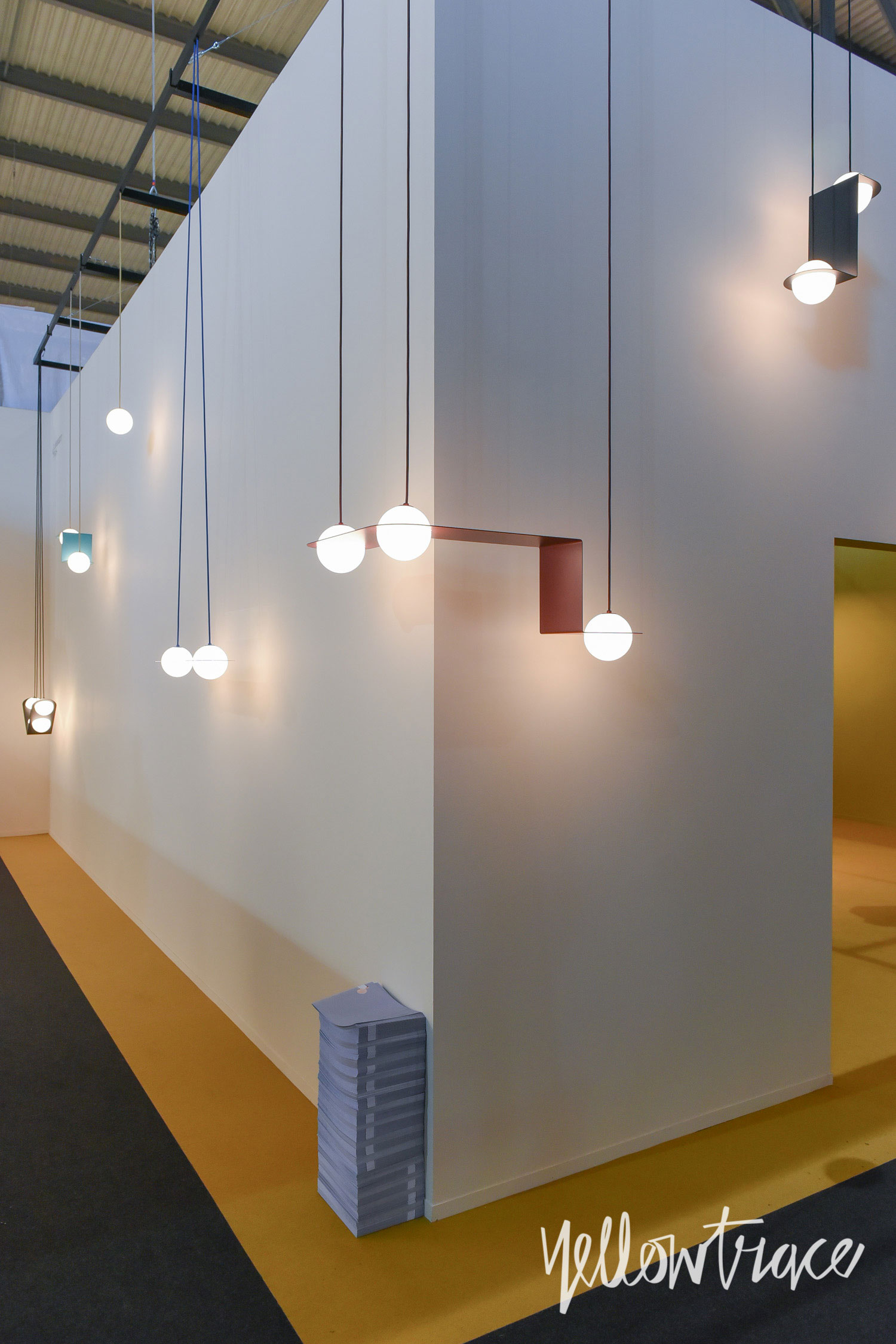 Lambert et Fils Stand at Euroluce. Photo by Nick Hughes | Yellowtrace