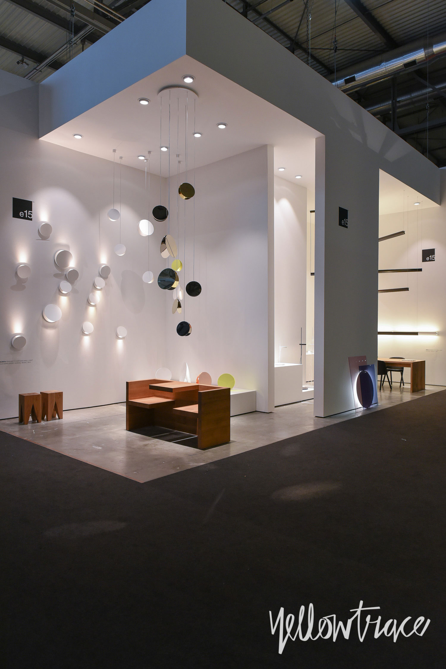 e15 Stand at Euroluce. Photo by Nick Hughes | Yellowtrace