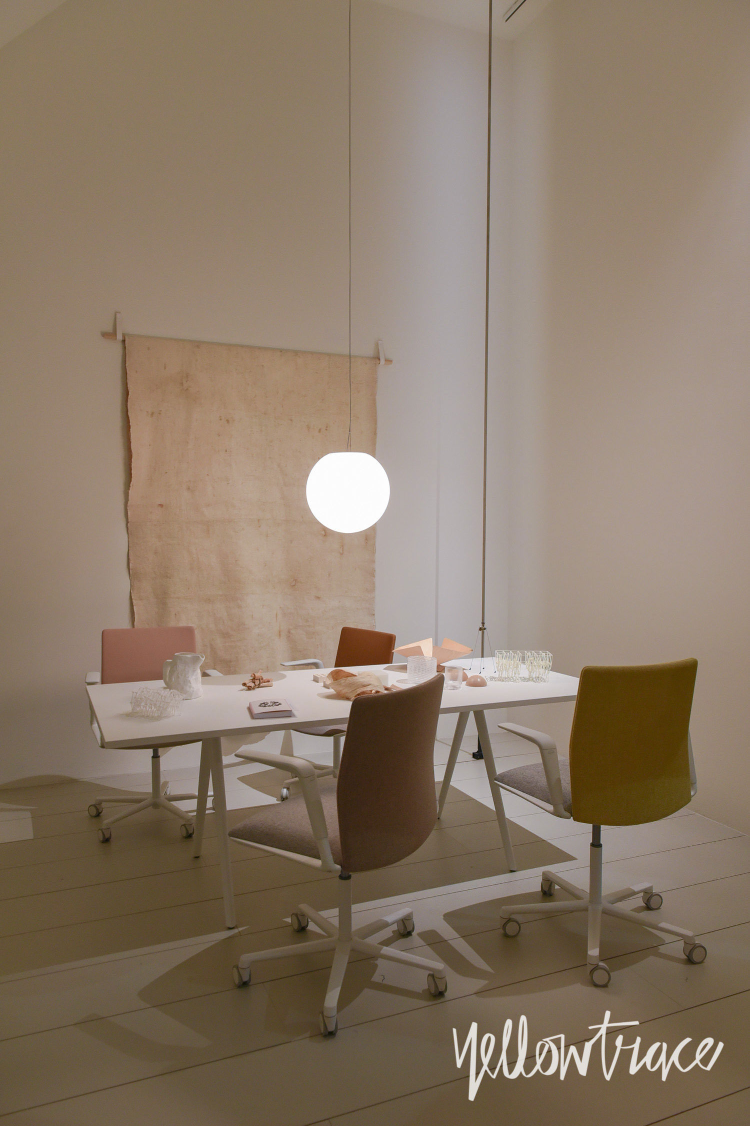 Arper Stand at Salone del Mobile. Photo by Nick Hughes | Yellowtrace