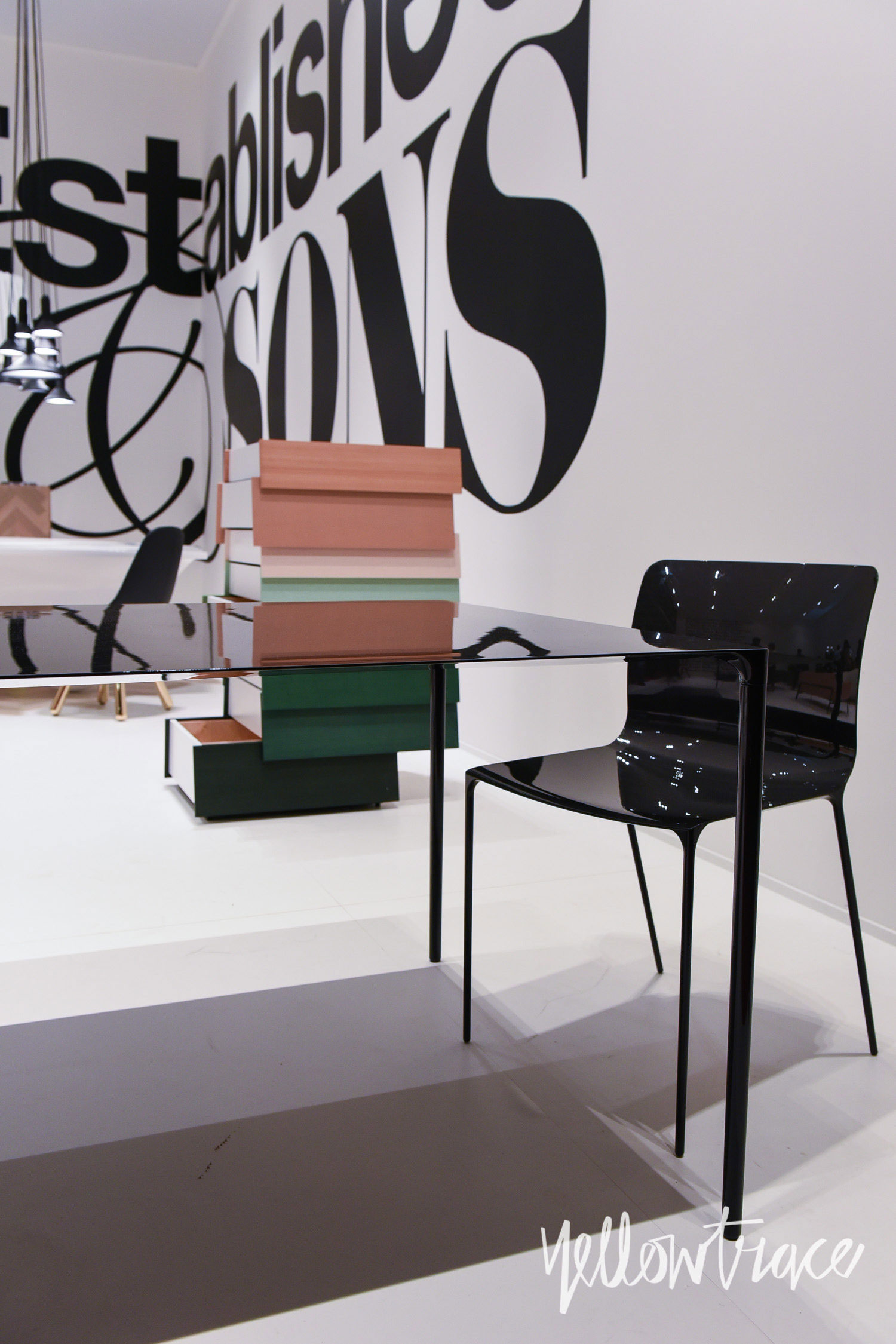 Establish&Sons Stand at Salone del Mobile. Photo by Nick Hughes | Yellowtrace