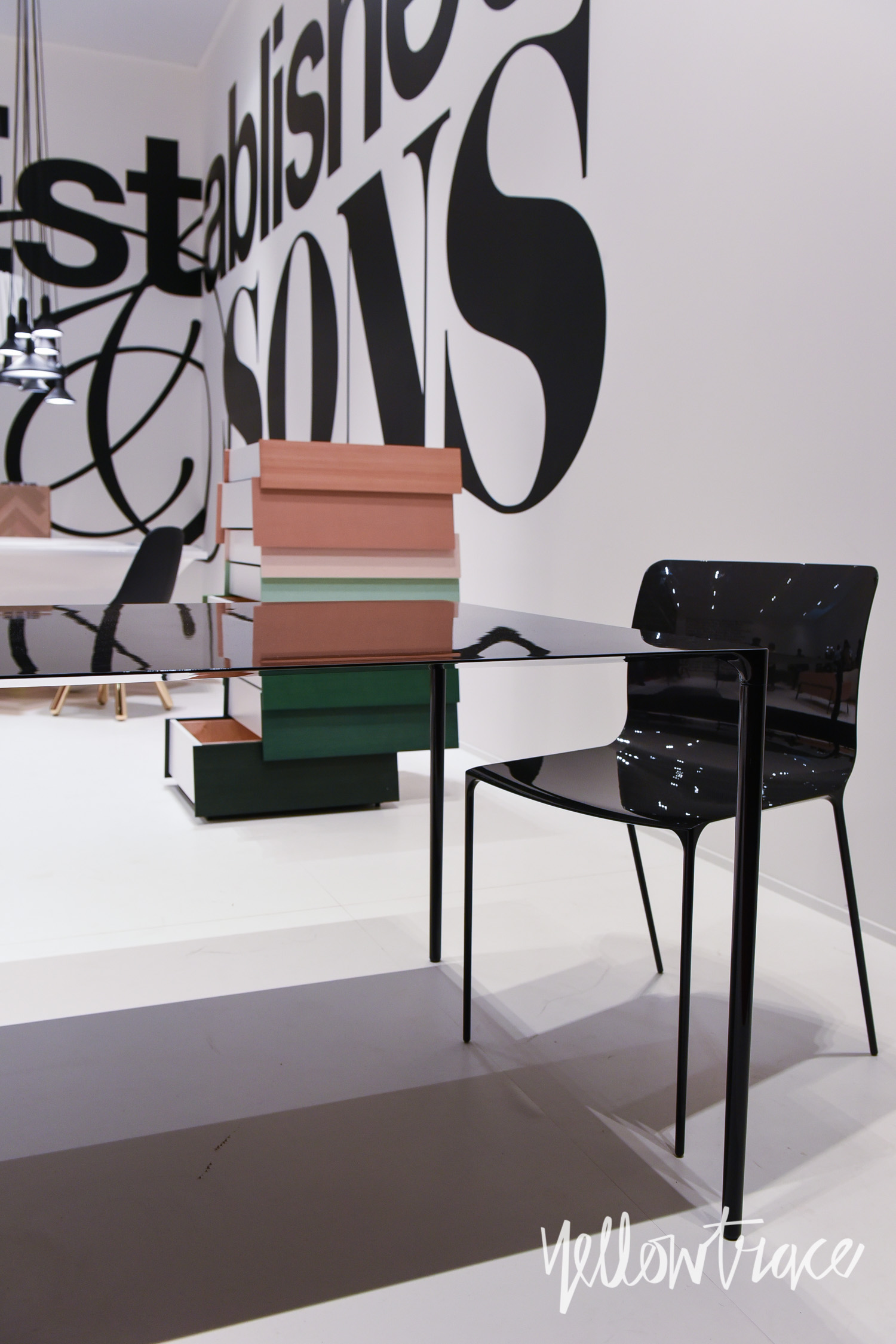 Establish & Sons Stand at Salone del Mobile. Photo by Nick Hughes | Yellowtrace
