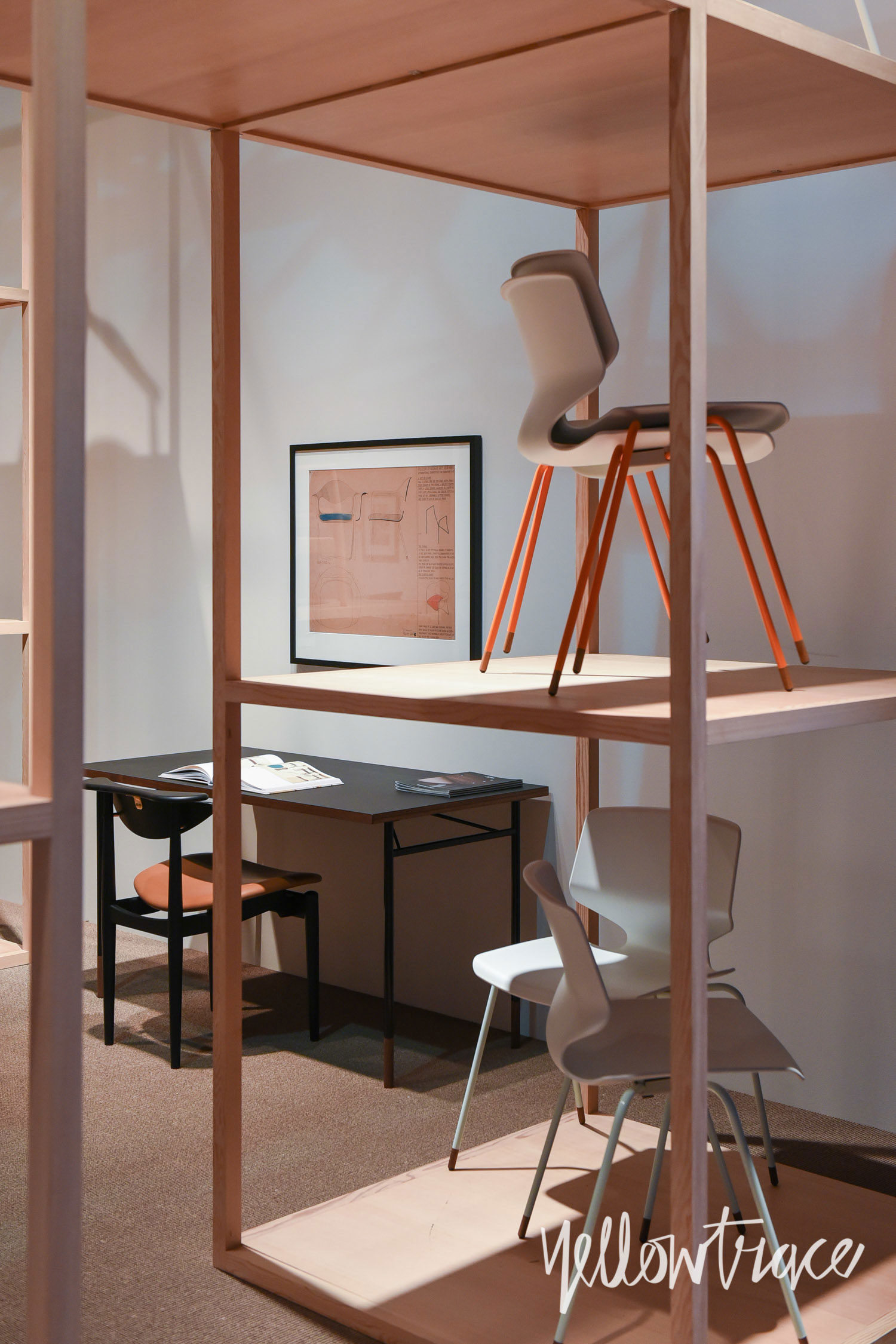 Finn Juhl Stand at Salone del Mobile. Photo by Nick Hughes   Yellowtrace
