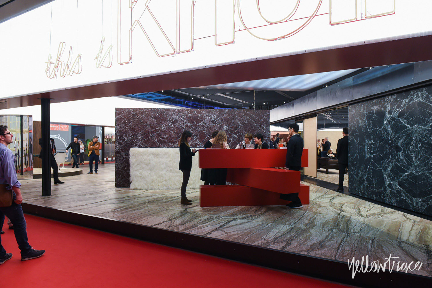 Knoll Stand at Salone del Mobile. Photo by Nick Hughes | Yellowtrace