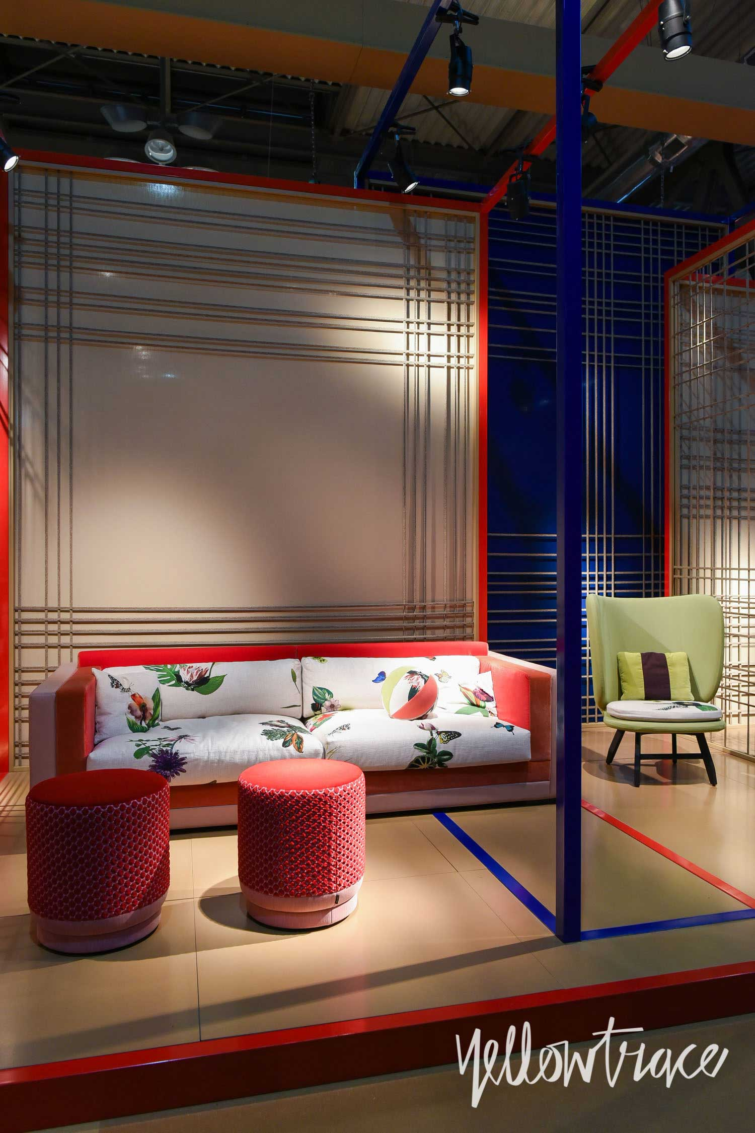 Moroso Stand at Salone del Mobile. Photo by Nick Hughes | Yellowtrace