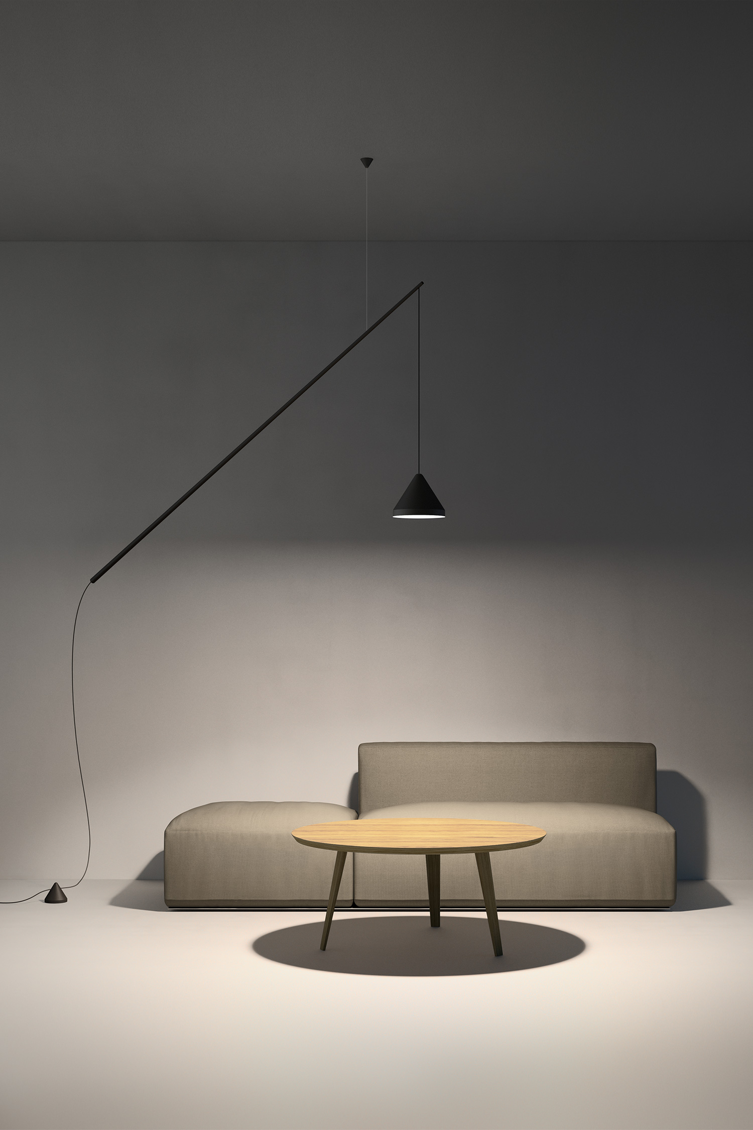 North Floor Pendant by Vibia at Euroluce 2017 | Yellowtrace