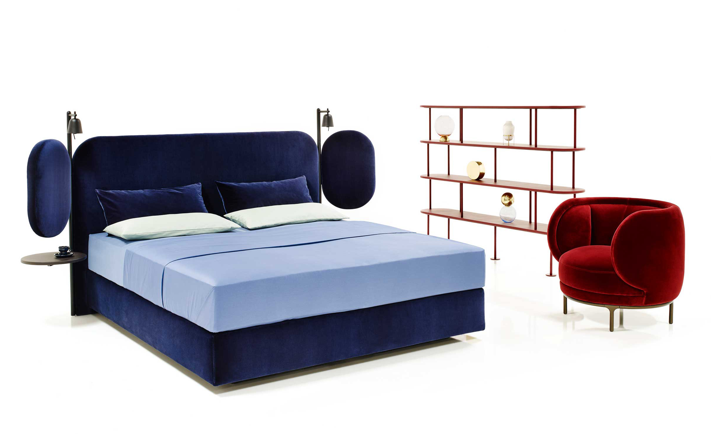 Wings Bed by Wittmann at Salone del Mobile 2017 | Yellowtrace