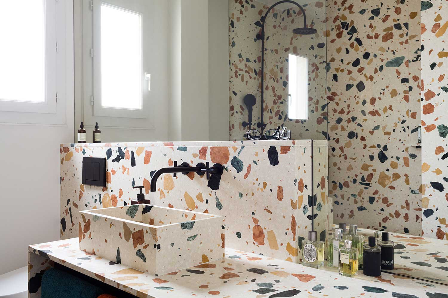 Bathroom for a Paris Apartment, Marmoreal by Max Lamb | Yellowtrace