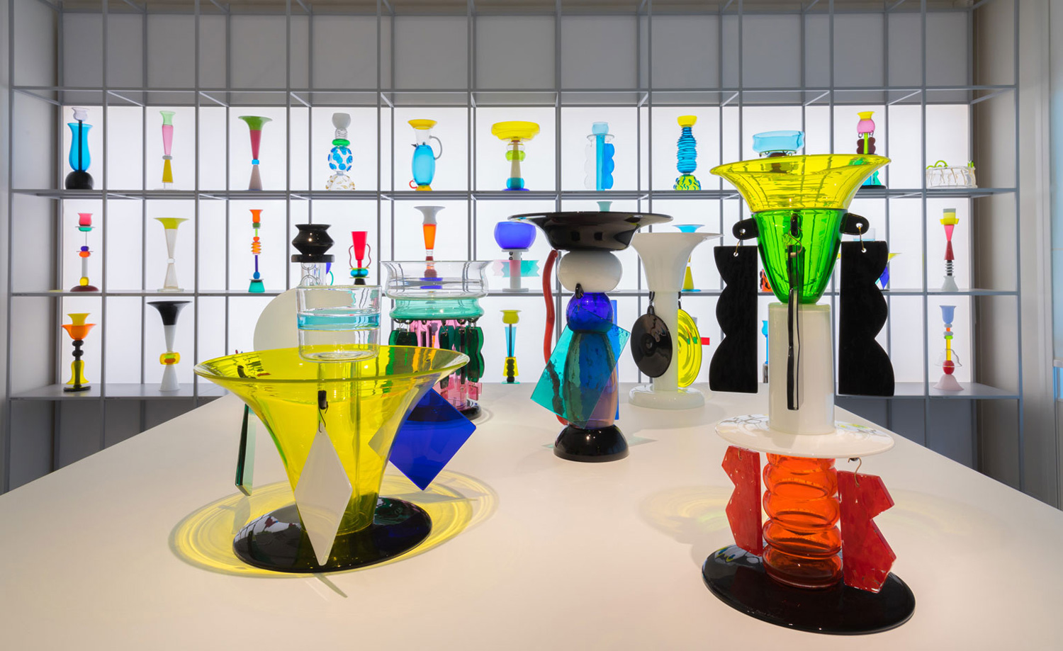 "Ettore Sottsass ""The Glass"" Curated by Luca Massimo Barbero at Venice Biennale 2017 