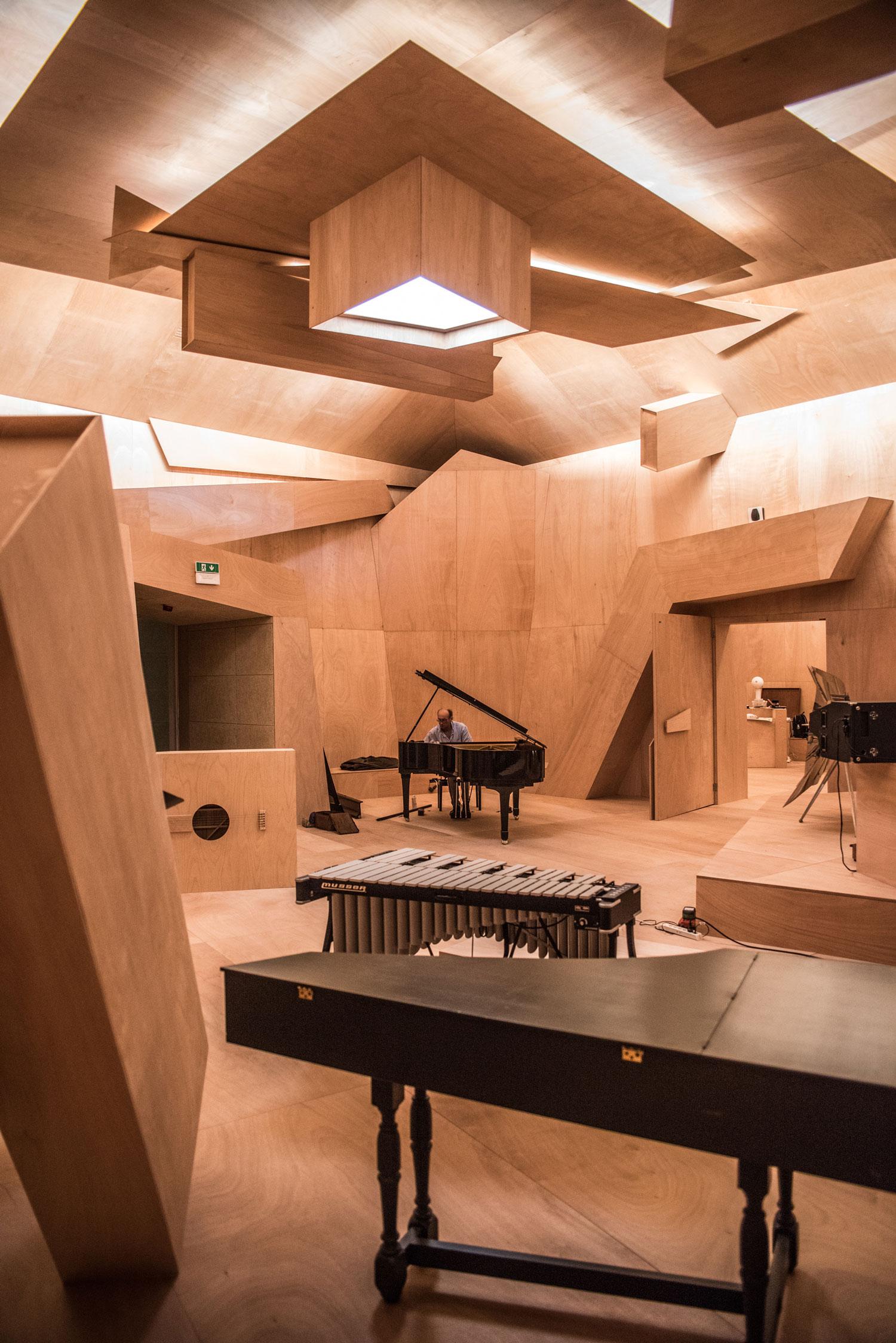 France Pavillion by Studio Venezia, Recording Studio by Xavier Veilhan at Venice Biennale 2017   Yellowtrace