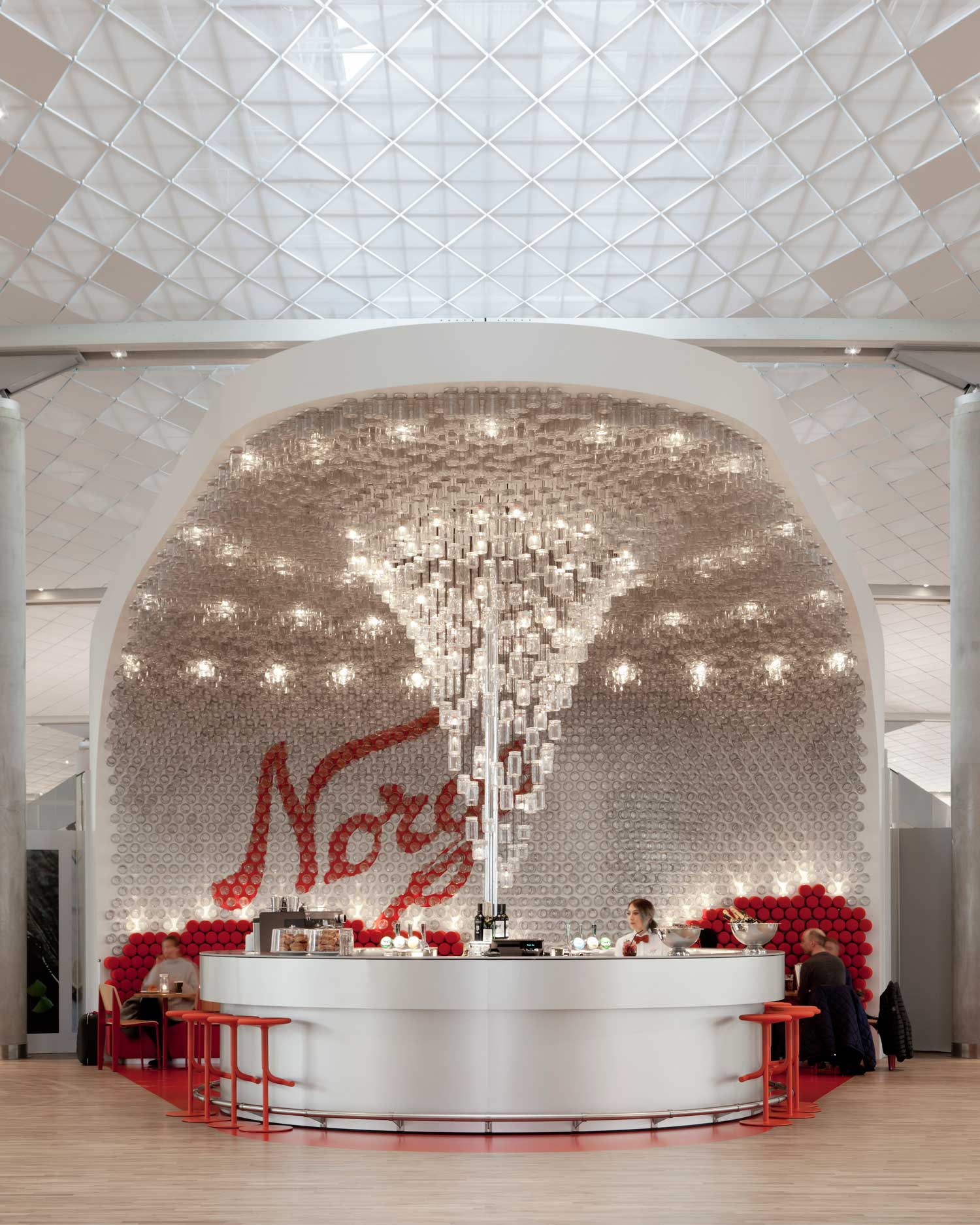 Snøhetta Has Designed A Unique Bar And Interior Concept For The Expansion  Of Oslo Airport. Located Centrally In The New Domestic Terminal, ...