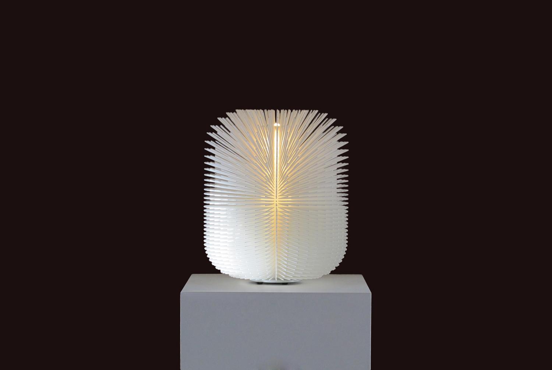 Ilkka Suppanen's Porcupine light at Design Miami Basel 2017   Yellowtrace