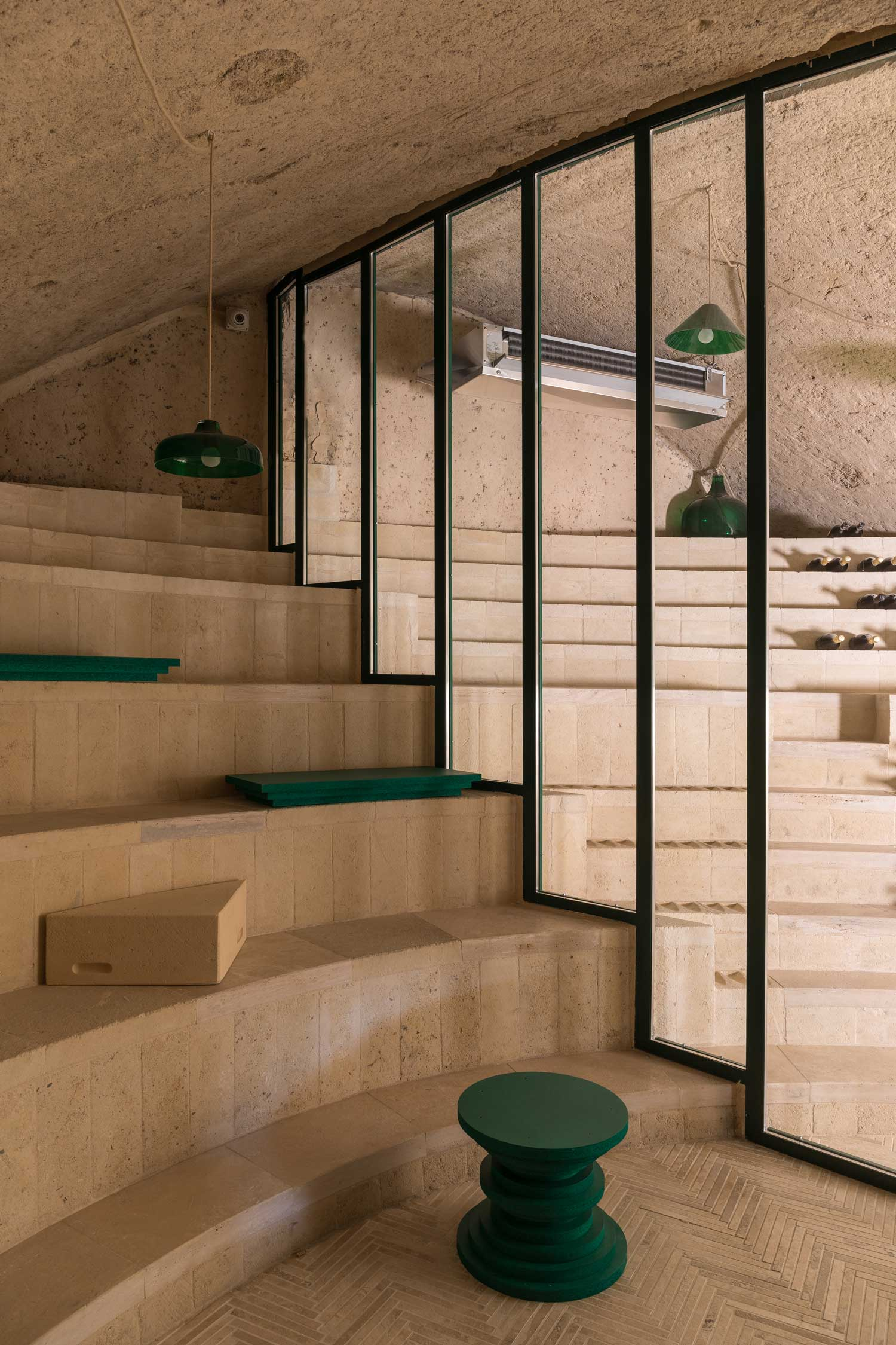 Enoteca dai Tosi: Wine Bar Carved Into a Mountain in Matera, Italy, Designed by Architecten De Vylder Vinck Taillieu | Yellowtrace