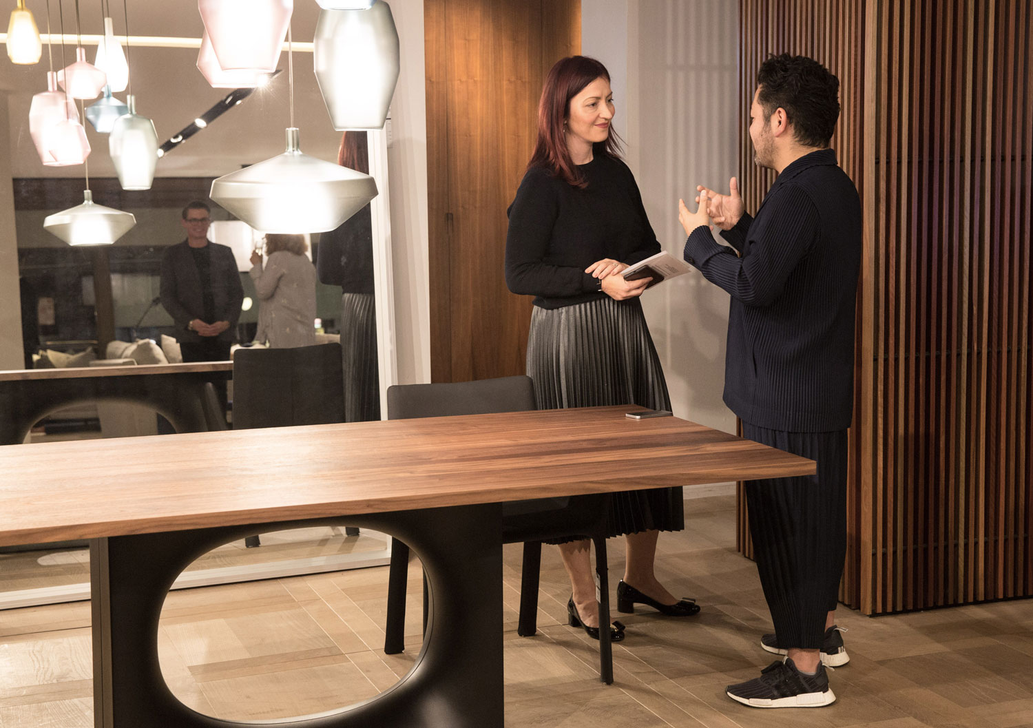 Kensaku Oshiro & Dana Tomic Hughes at Fanuli Furniture Sydney Showroom | Yellowtrace