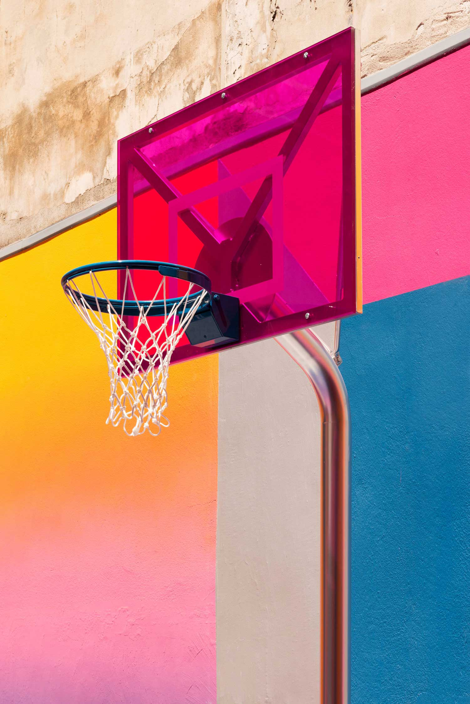 Technicolor Paris Duperré Basketball Court by Pigalle, Ill-Studio and Nike | Yellowtrace